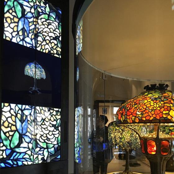 The New-York Historical Society: Rotunda Tiffany Lamps