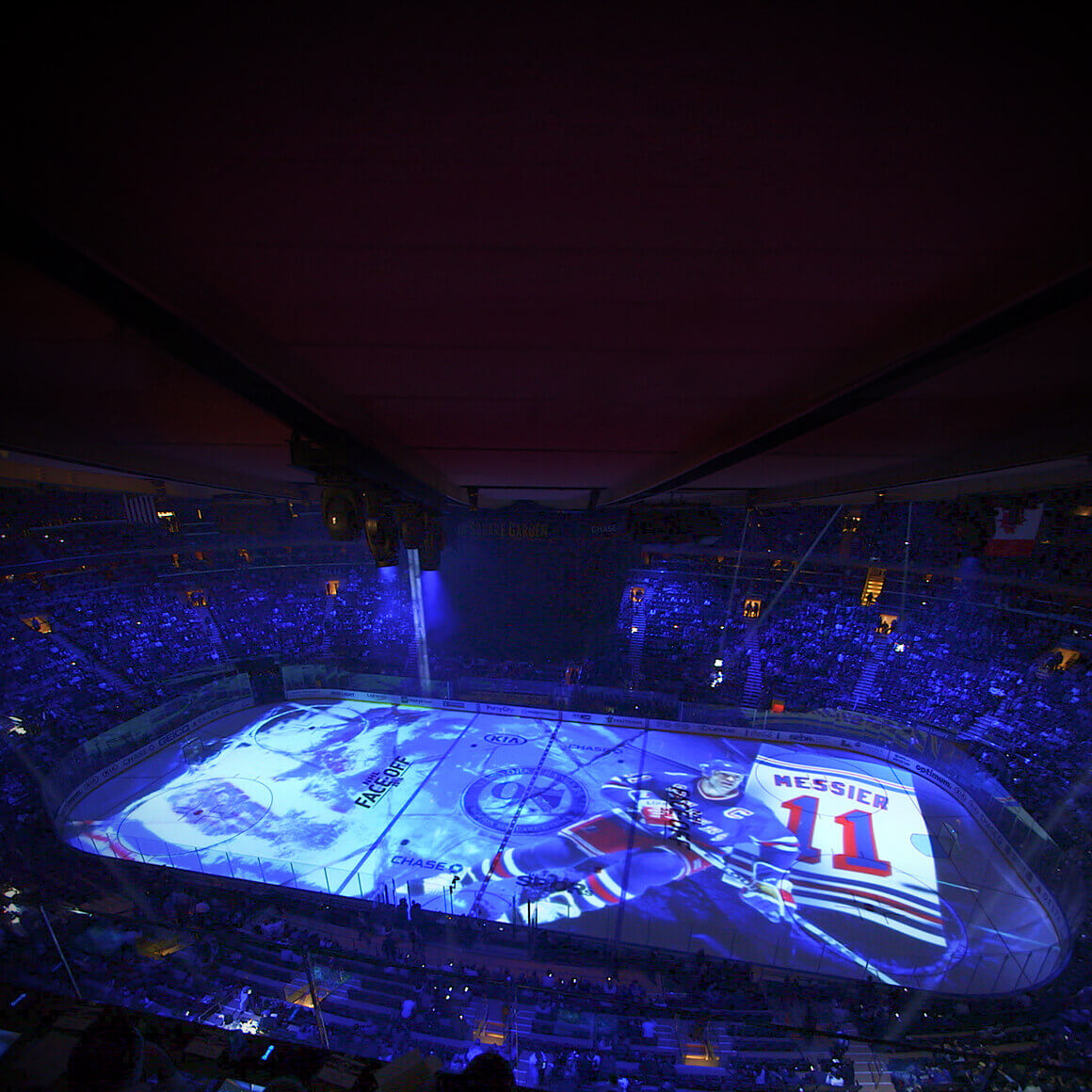 Madison Square Garden Rangers Projection Mapping