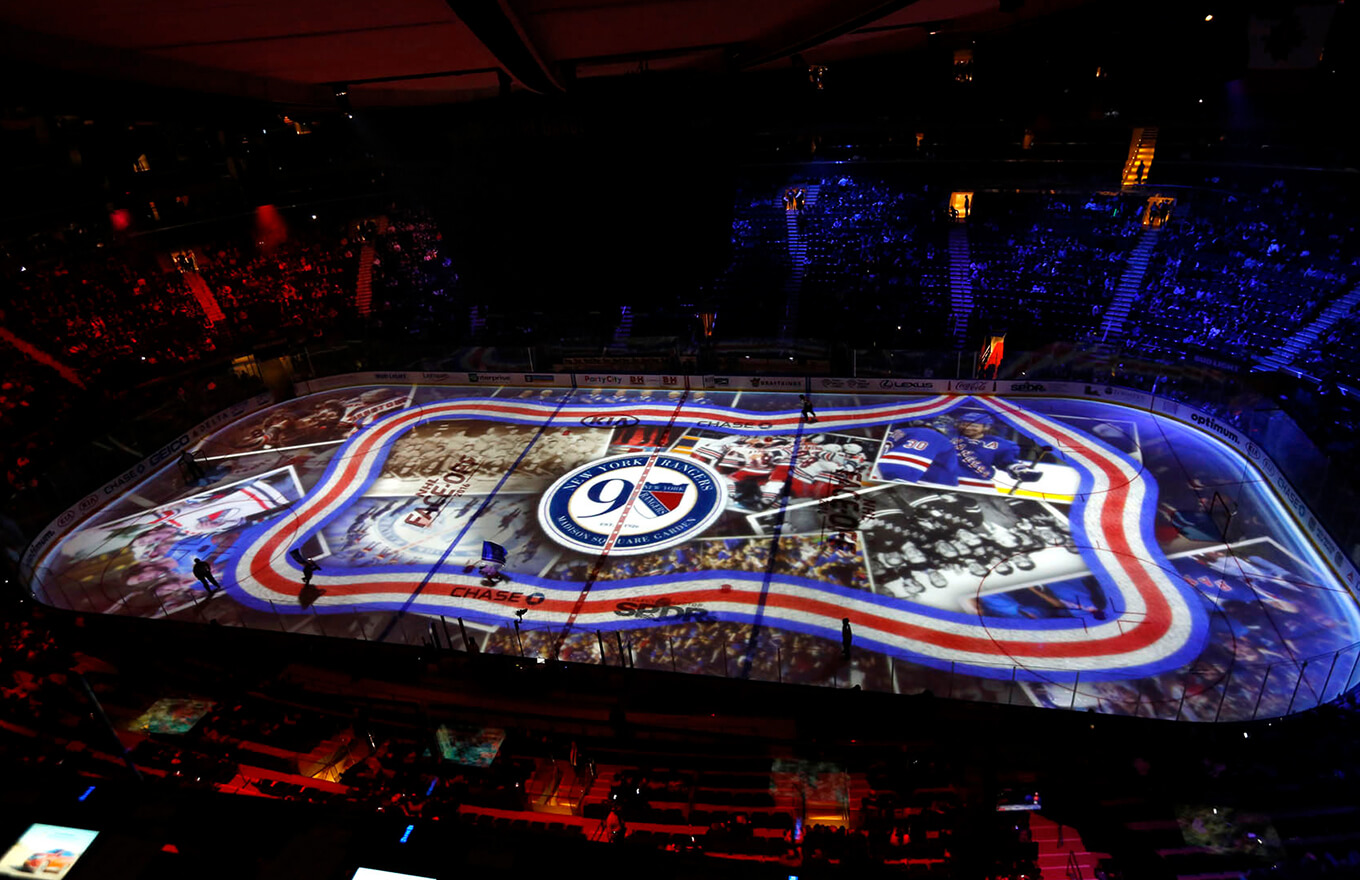 Madison Square Garden Rangers Projection Mapping 2016 17