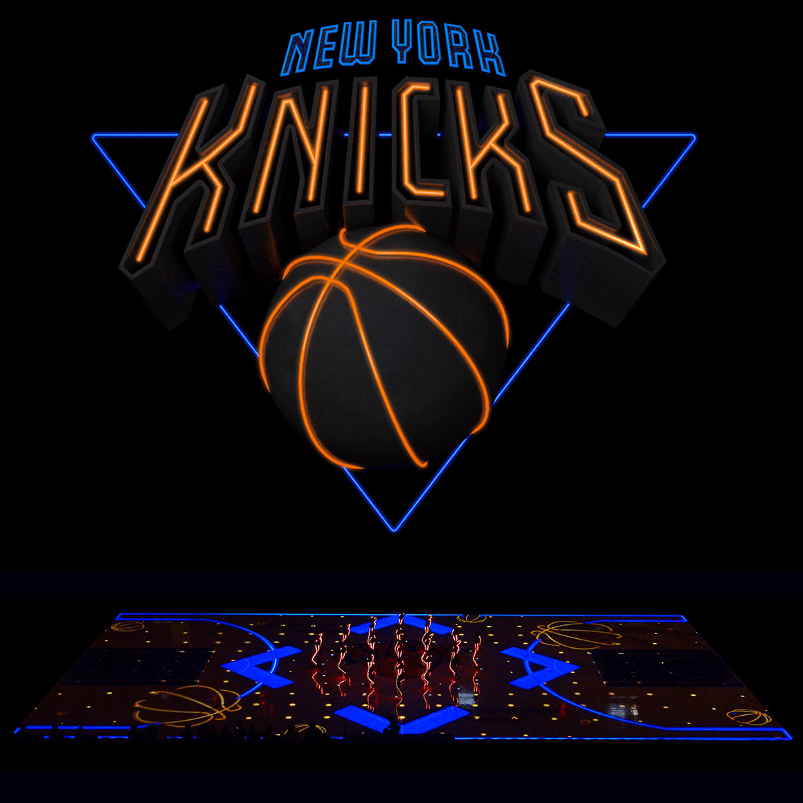 Madison Square Garden Knicks Projection Mapping